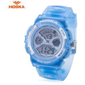 8cdc4b31c85f HOSKA HD006B doble Movt niños de cuarzo reloj del (Azul)