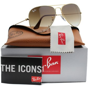 Compra Lentes De Sol Ray Ban Aviador RB3025 001 51 Marrón Degrade ... 804788fd8c