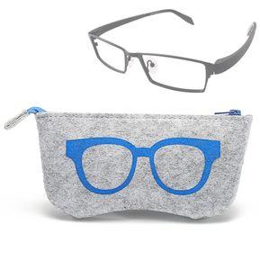 cc7b833eb7 Gafas Patron Protector De La Cremallera De Fieltro Para Gafas / Anteojos  (azul)