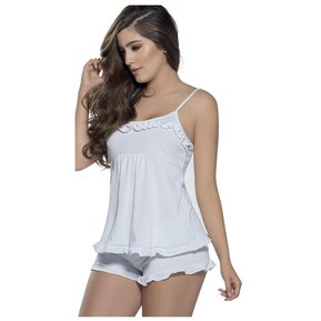 ecbfd61431 Pijama Adulto Para Mujer Marketing Personal 82320 Blanco