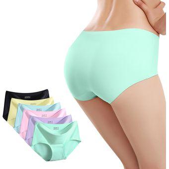 875fb2af4e 6PCS Bragas De Las Mujeres Ropa Interior De Lencería Costuras De Encaje Sin  Punta Sexy Correas