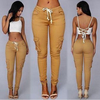 Explosion Models Pantalones Casuales Multibolsillos Para Mujer Linio Peru Oe991fa0j46u6lpe