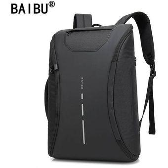 Baibu 1956 Mochila Antirrobo Impermeable Laptop Notebook Usb Mac Anti robo  Negro c8737ac83886