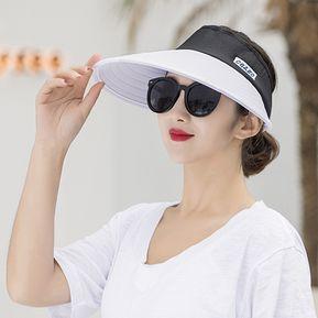 5dcbb3a877120 Nueva Visera De Verano Señoras Al Aire Libre Plegable Grande Protección UV  Sombrero Blanco   Un