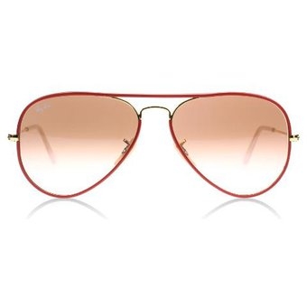 9be1be1451 Compra Lente Ray Ban Aviator RB3025 001/X3 Full Color - Rojo online ...