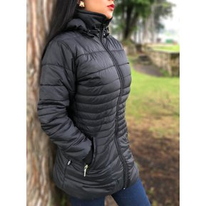 b2bbda90d67 Gabán Chaqueta Abrigo Termica Invierno Impermeable Mujer Dama Ganesh A022 -  Negro