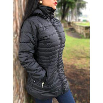 Gabán Chaqueta Abrigo Termica Invierno Impermeable Mujer Dama Ganesh A022 -  Negro 4104b574f0c