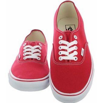 vans zapatilla hombre rojo