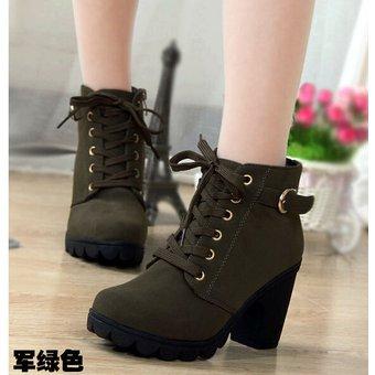 entrega gratis nueva llegada excepcional gama de estilos y colores Zapatos de Tacon Tipo Botas para Mujer-Verde