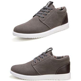 precios baratass precio de descuento venta más caliente Zapatos Casuales Para Hombre Respirable Estilo De Inglaterra De Moda  Zapatos Deportivos-Gris