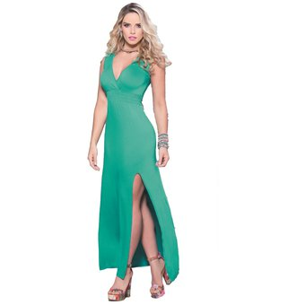 Vestidos casuales color verde jade