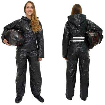 buscar autorización Mitad de precio nueva productos calientes Traje Impermeable Para Moto, Motociclista, Bicicleta Termosellado Portable  impercap - Negro