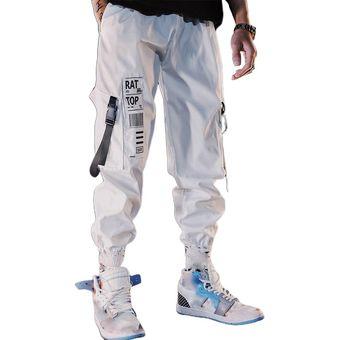 Pantalones De Hombre Pantalones De Carga Blancos Negros De Hip Hop Pantalones Tipo Lapiz Con Multiples Bolsillos Pantalon Noveno Holgado Elegante Para Hombre Wan White Linio Peru Ge582sp0x5neblpe