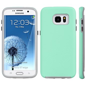25d09f084f2 Agotado Funda Case para Samsung Galaxy S7 Edge G935 de Uso Rudo con Doble  Protector-Menta
