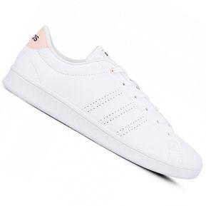 Zapatilla Adidas Advantage CL QT Para Dama - Blanco y Rosa 919595f5de35c