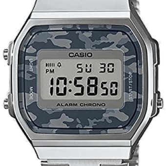 079b84ab45ec Compra Reloj Casio Vintage A168 Plata Camuflaje-Plata online