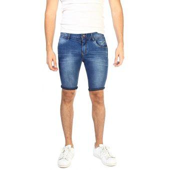 258af59b91e83 Compra Conox - Short Hombre Jeans Premium Foco Pitillo - Azul ...