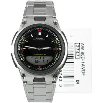 f88c092f7627 Compra Reloj Casio AW 80 D 1a Acero Memorias Telefonica Capacidad 30 ...