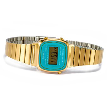 55637deac38d Compra Reloj Dama Casio Vintage LA670WG Dorado con Azul online ...