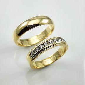 0dbf7f504437 Argollas Matrimonio Compromiso Alexa Oro El Señor De Los Anillos ADa185