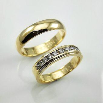 6b22a3d1ff6b Argollas Matrimonio Compromiso Alexa Oro El Señor De Los Anillos ADa185