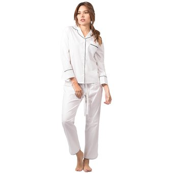 f0b1435634 Compra Conjunto Pijama Mujer Noite Unicolor Blanco online