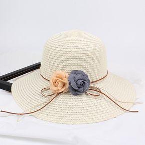 272a04e3896b5 Sombrero De Verano De Señora -Blanco