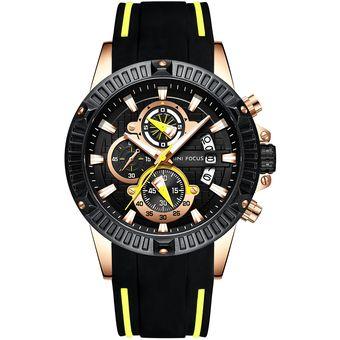 Reloj Hombre Mini Focus Analógico Mf0244G_02 Negro Con Amarillo