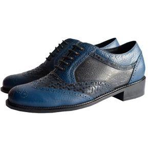 94b1d28c Zapato Oxford Terratenientes en Cuero para Hombre ZANDAN-Azul