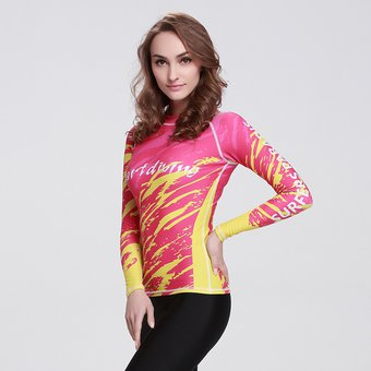 3e2c4238d212c Manga Larga Camisetas Surf De Mujer Traje De Baño Proteccion Solar Digital30