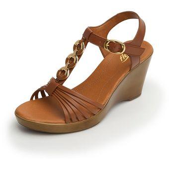 Sandalia Para Plataforma Mujer Flexi Cafe 20215 Online Compra QtdCshr