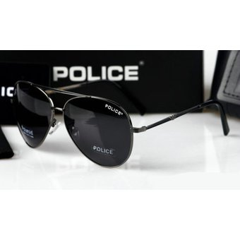 a5b5c5df1a Lentes De Sol - Policia - Aviador - Polarizados + Proteccion UV - Negro