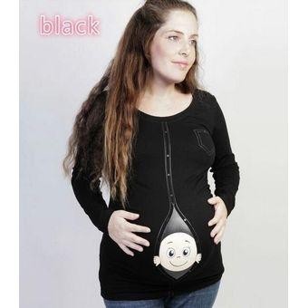 c07cf2201 Compra Cute Embarazadas Maternidad Divertidas Camisetas Casual Tops ...