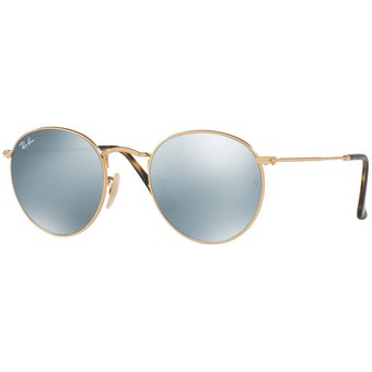c5dd5740d0 Compra Gafas Ray Ban Round Metal Unisex Platinum Flash Lenses online ...
