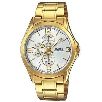 ef6303032035 Compra Reloj Casio MTP V301G 7A Dorado Acero Inoxidable online ...