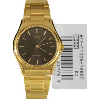 820ba4a0e25a Compra Reloj Casio MTP 1130N 1A - Dorado fondo Negro online