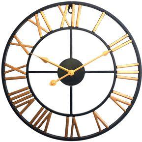 b29f9b06e3c0 Reloj De Pared Silencioso Arte De Hierro - Dorado