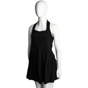 Vestido halter corto negro