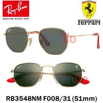 9ba53e7e23862 Lentes De Sol Ray Ban Hexagonal RB3548NM F008 31 Scuderia Ferrari Collection
