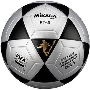 f154f2a3e73ff Pelota de Fútbol Profesional Mikasa FT-5 - Gris Negro