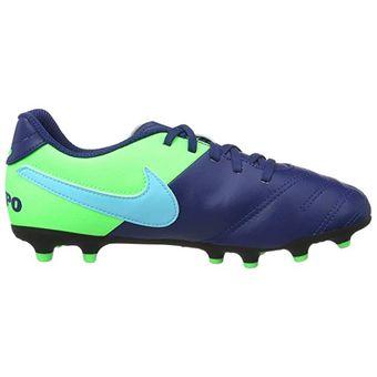 Compra Guayos de Niño Nike Tiempo Rio III-Azul Verde online  afec7cf9dbd60
