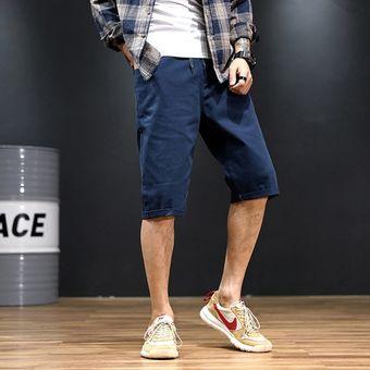 Pantalones Cortos Informales De Talla Grande Xl Extra Grandes De Verano Para Hombre Pantalones Cortos De Gran Tamano Con Cintura Elastica Azul Linio Peru Un055fa0d46jjlpe