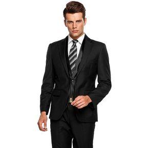 04687bdf98e7a Traje De Suit De Oficina Formal Ajustado Para Hombre-negro