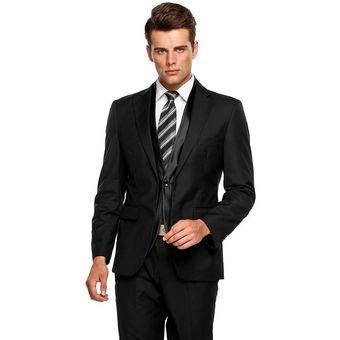 4fe90cb596365 Compra Traje de Suit de oficina formal Ajustado para hombre-negro ...