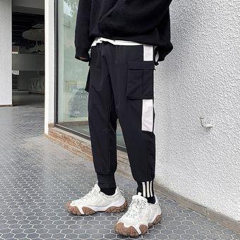 Pantalones Negros De Color Negro Para Hombre Ropa De Calle Pantalones De Chandal De Estilo Hip Hop Japones De Primavera Para Hombre Pantalones Para Hombre Cui Black Linio Peru Ge582sp01fx2zlpe