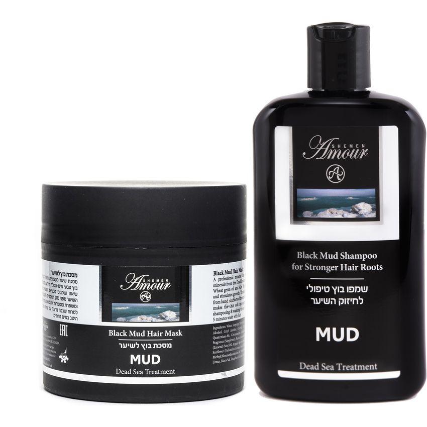 Pack Barro Negro Shampoo + Mascara