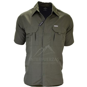 e541441a6f Compra Camisa verano hombre manga corta Montagne Botsuana verde ...
