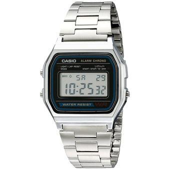 7e22d8e46832 Compra Reloj Digital Casio A158W1-Plateado Con Negro online