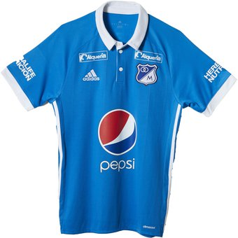 Compra Camiseta Adidas Oficial Millonarios Local 2017 - Azul online ... fae782109da