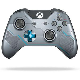 cd520dd2804 Agotado Control Inalámbrico Para Xbox One Microsoft Halo 5 Spartan Locke-  Gris